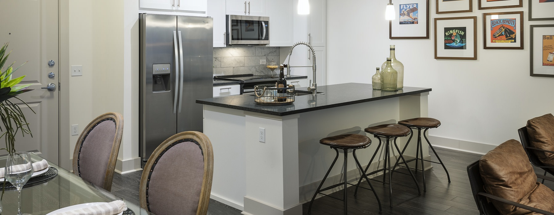 Well-lit kitchen with ample counter space